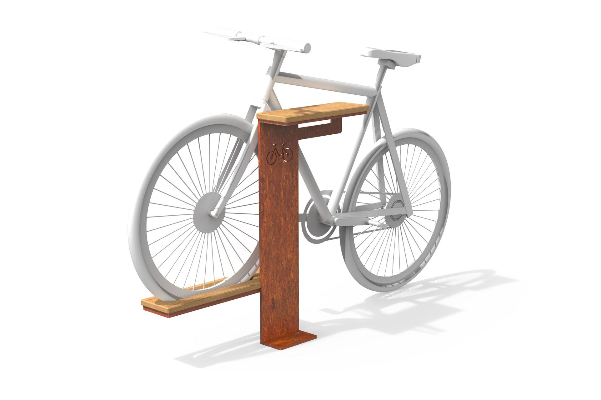 UrbanObjekts Corten Fahrradständer