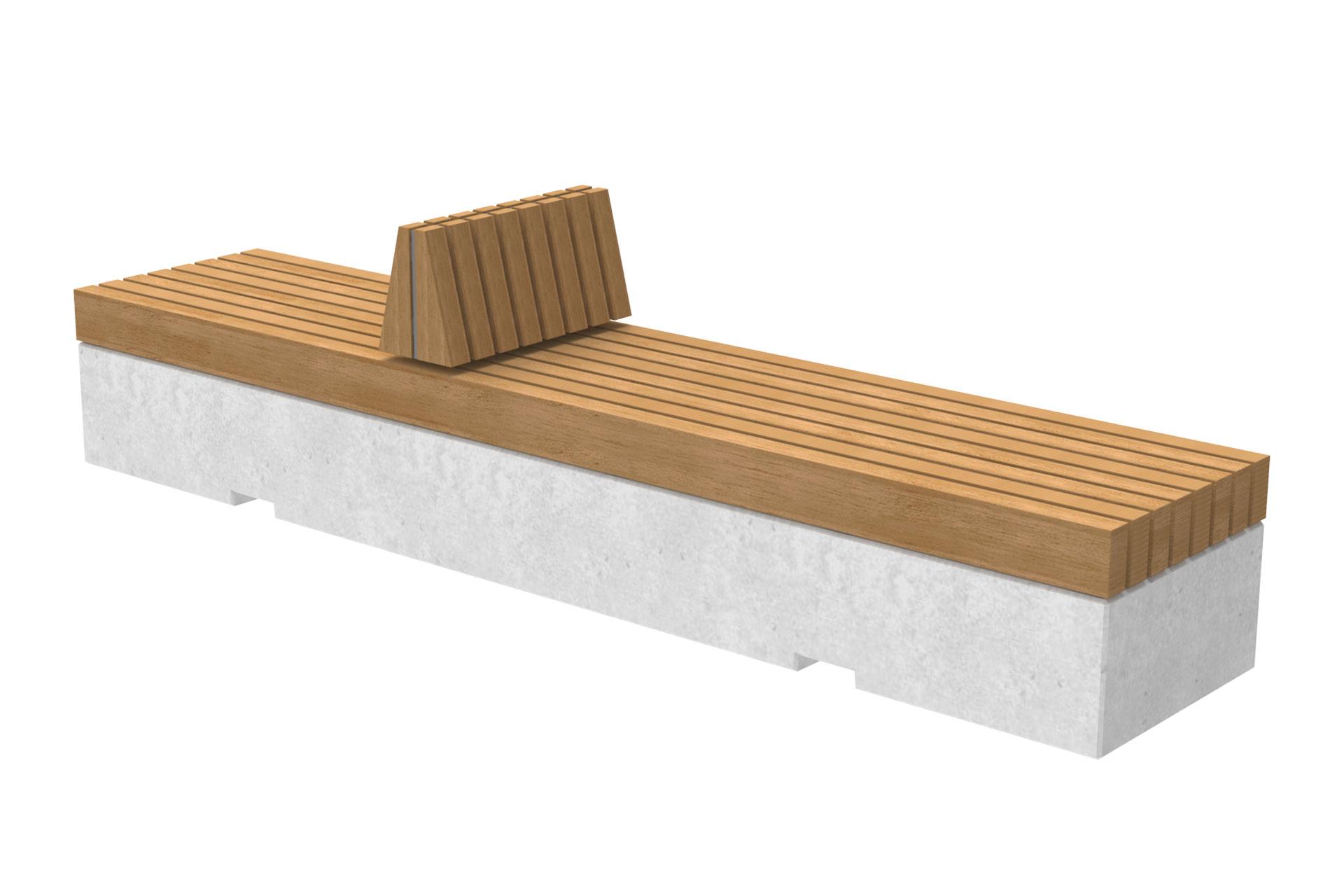 UrbanObjekts Trave Sitzgelegeneheiten Beton mit Rückenstütze