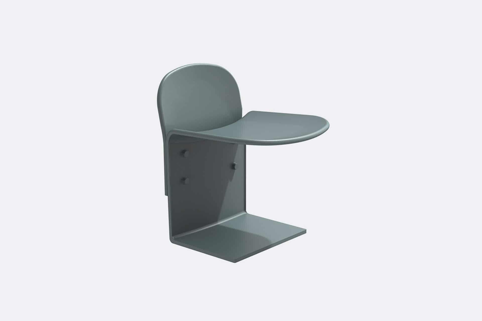 UrbanObjekts Cais Sitzgelegenheit mit Rückenstütze
