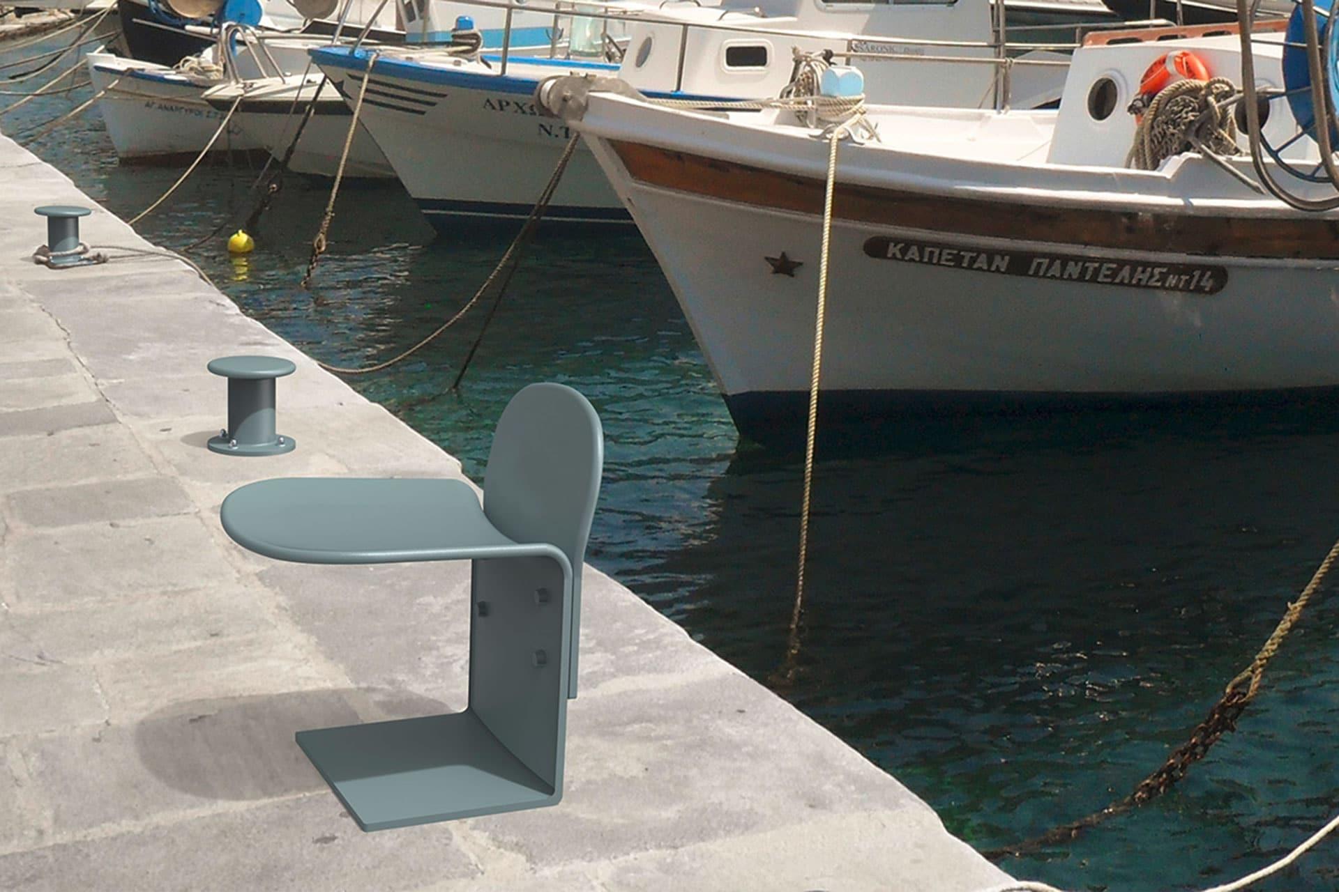 UrbanObjekts Cais Sitzgelegenheit mit Rückenstütze Ansicht