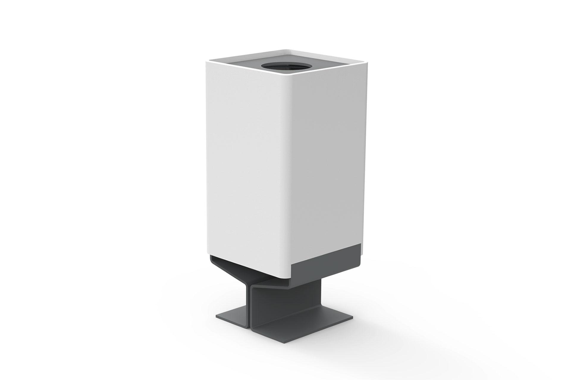 UrbanObjekts Y Abfallbehälter mit Bodenplatte
