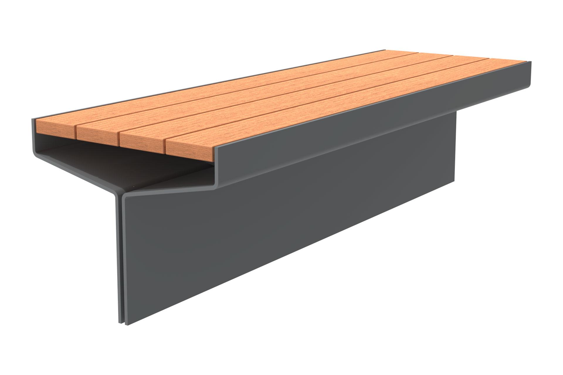 UrbanObjekts Y Sitzgelegenheit Erweiterung Holz Bodenplatte