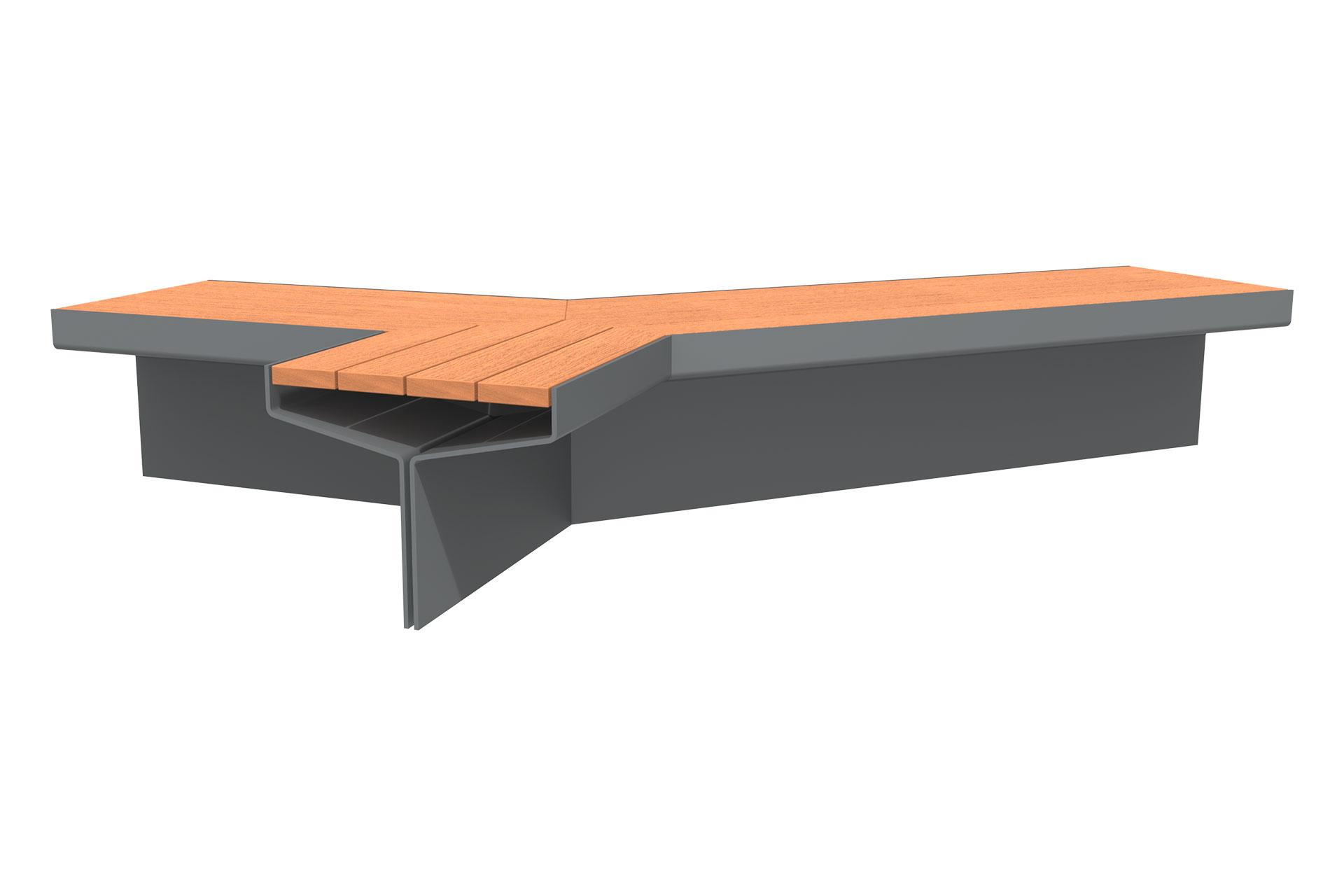 UrbanObjekts Y Sitzgelegenheit Verzweigt Holz