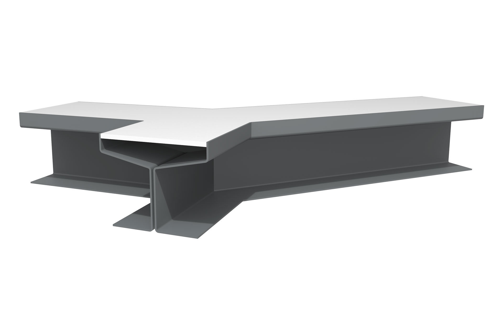 UrbanObjekts Y Sitzgelegenheit Verzweigt Glasfaserbeton Bodenplatte