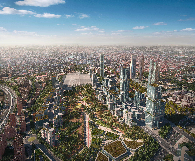 Madrid Neuer Norden aus der Vogelperspektive