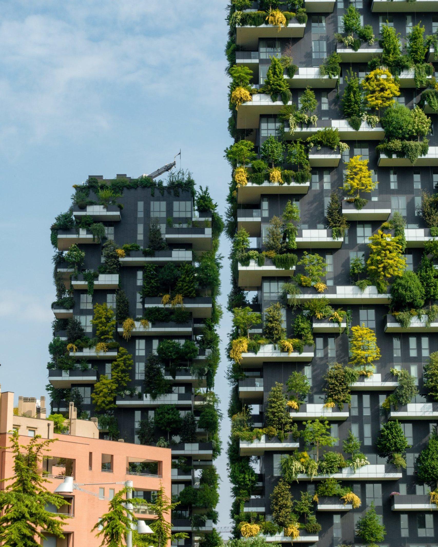 Bosco Verticale in Mailand, vollständig bepflanzte Häuser
