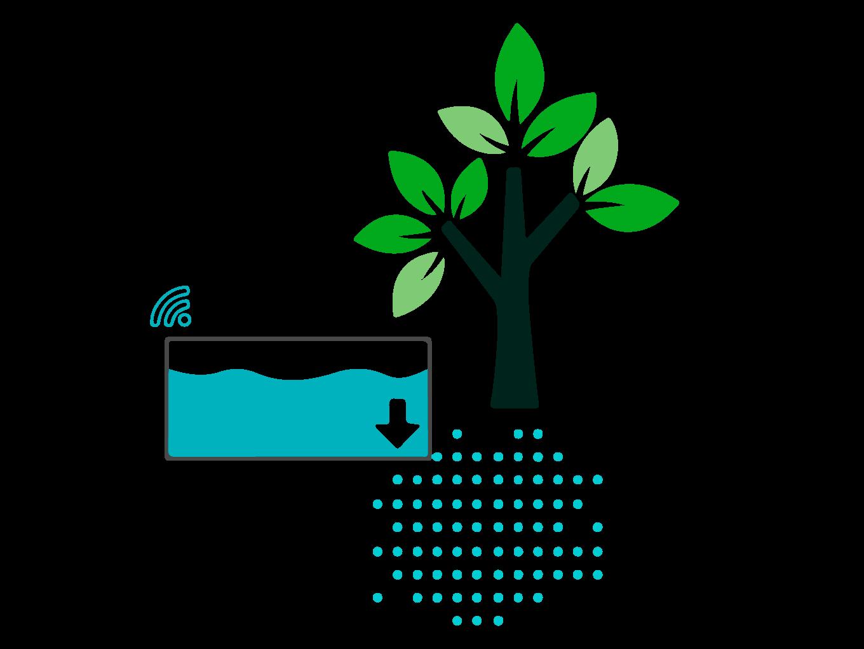 Bewässerung mithilfe von Bewässerungstanks