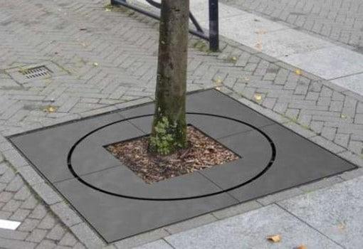 Bloc Baumscheibenabdeckung in der Anwendung