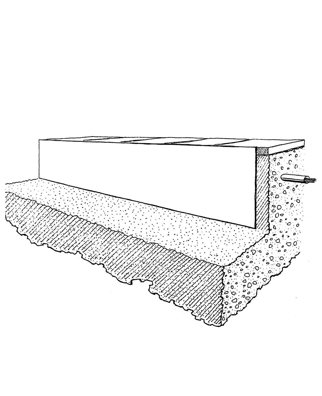 Technische Zeichnung des Wurzelschutzes